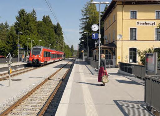 Bahnsteig Bahnhof Seeshaupt